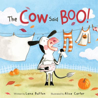 The cow said boo! Book cover